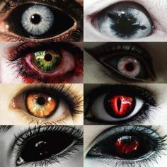 Demon, Vampire's, Bruxism e Shifter Scary Eyes, Cool Eyes, Dark Fantasy Art, Dark Art, Pretty Eyes, Beautiful Eyes, Fantasy Creatures, Mythical Creatures, Eye Color Chart