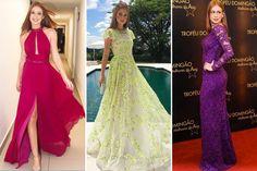 Os vestidos de Marina Ruy Barbosa seguem o estilo delicado e romântico, às vezes com fendas e decotes. Fizemos uma seleção para inspirar as madrinhas!