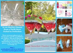 Great idea for these $1.00 cool martini glasses in the Carousel Shop as of 10/22/14. At only a $1.00 there are endless possibilities!