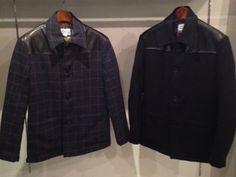 老若男女問わずにこの冬愛される、当店イチオシアウターのドンキーコート。軽いウール地で風も通さず、レザーとの切り替えがとてもおしゃれ!無地・チェック柄の二種類あり。/ドンキーコート(bluesdress)¥52,800- /bluesdress section dor TEL:076-255-3165/Tatemachi Christmas Collection