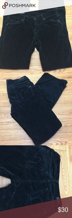 Velour Citizens of Humanity pants Black velour COH low waist boot cut. A tiny bit of wear on the corners of the back pockets Citizens Of Humanity Pants Boot Cut & Flare