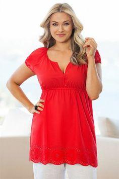 e7e70162dea2e9 Plus Size Women s Fashion - Sara Embroidered Hem Tunic by EziBuy Australia  My Size
