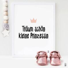 Printable / Plakat Träum schön kleine Prinzessin / A4 von sppiy