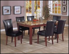 Modern Dining Room Sets Granite Top Dining Table Storage Dining ...