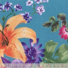 Viscose Spandex Jersey - Large Vibrant Floral