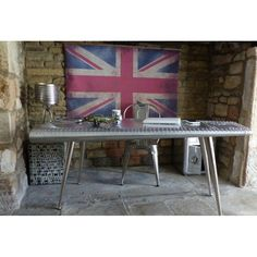 Old UK British Large Vintage Union Jack Flag * Antique Reproduction Bamboo Poles, Wooden Poles, Pimms O Clock, Even The Rain, Blue Wall Decor, Jack Flag, Easy Wall, The Perfect Touch, Union Jack