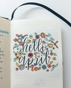 "86 Likes, 10 Comments - Bullet Journal x Lettering (@tetheredandtold) on Instagram: ""April is here, which means spring has sprung. For us that means seasonal allergy season! Itchy…"""