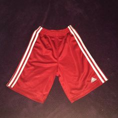 GIRLS YOUTH Basketball Shorts Girls Youth Red Basketball Shorts. Material: 100% Polyester Adidas Shorts