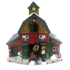 Christmas on the Farm Red Hay Barn Building Christmas Village Porcelain | Collectibles, Holiday & Seasonal, Christmas: Current (1991-Now) | eBay!