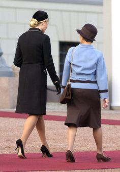 Princess Mette Marit and Queen Sonja.  Sept 21, 2004.