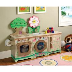 Teamson Kids Enchanted Forest Kitchen - Fridge  - Teamson Design Corp 1011141 -  Kitchens - FAO Schwarz®