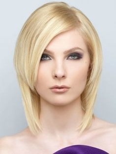Choppy Layered Medium Hairstyle.  Choppy layers can minimize the roundness of your face. Place the heavy layered sections in the bangs area or the front for an instant eye-popping effect.