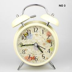 HITOTM 4 Silent Quartz Analog Twin Bell Alarm Clock with Nightlight and Loud Alarm by cerltech ** Read more details by clicking on the image. #Clocks