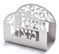 Carmel Gifts - Passover Stainless Steel Matzah Holder - Pomegranates, $47.65 (http://www.carmelgiftshop.com/passover-pessach/matzah-covers-and-matzah-plates/passover-stainless-steel-matzah-holder-pomegranates/)