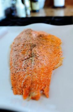 Perfect salmon - olive oil, salt and pepper, put in cold oven and turn temp to 400 for 25 minutes | The Pioneer Woman