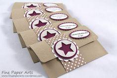 Stampin up, Mini-Adventskalender, Adventskalender to go, Advent calendar, Stanze Mittelgroßer Stern, Medium Star Punch, Christmas, Weihnachten, Verpackung - Fine Paper Arts