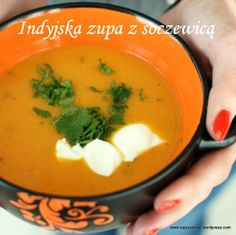 indyjska zupa z soczewicą Korma, Curry, Soup, Lunch, Ethnic Recipes, Curries, Eat Lunch, Soups, Lunches