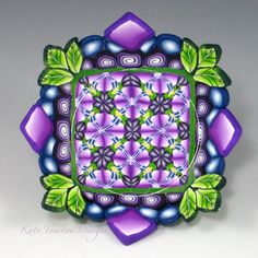 Ring Bowl, Lime Green  and Violet by Kate Tracton Designs
