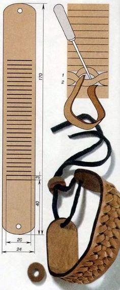 pulsera de cuero de Niza Niza ... Idea también como abrazadera para cortinas…