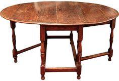 18th-c. English Oak Gate-leg Table