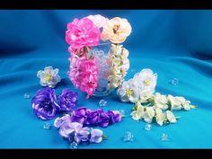 Ribbons Chrysanthemums/Crisantemos de cintas/Хризантемы из лент - YouTube