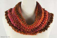 Caramel Royal Handmade Cowl by Webster Fiber Arts on Etsy The colors in this soft, squishy yarn remind me of those Brach's Milk Maid Royal candies. We used to get a paper bag of the Brach's Pick-a-Mix candies before we went on long car trips when I was a kid. I always liked those Royals, especially the orange, raspberry, and chocolate flavors—which are the flavors I see in this fiber. I crocheted this yarn into the Caramel Royal cowl.