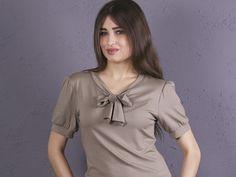 Hemdblusen - NARA elegante Blusen Shirt mit Schleife - ein Designerstück von Berlinerfashion bei DaWanda