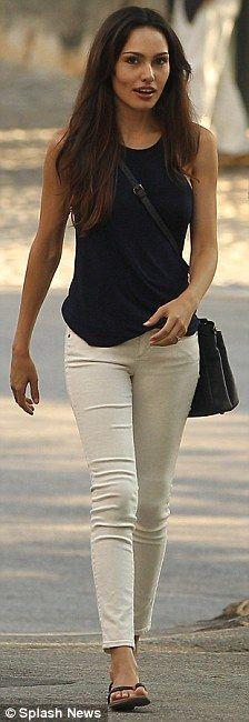 jasmina hdagha zane + white pants