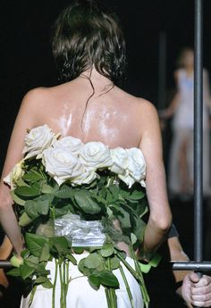 Maison Martin Margiela Spring 2006. - For when you just really need to wear flora genitalia.