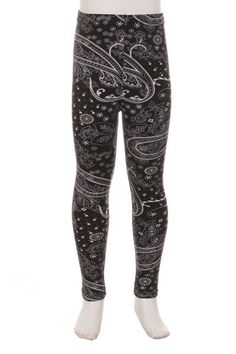 4e62b19b6b Kids paisley print leggings Super soft and comfy! Fabric: Polyester,  Spandex Fit S/M fits kids sizes to L/XL fits kids sizes 6 to 10 Size S/M L/ XL Length ...