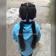 Two front pigtails connected in the middle into 3 braids down to pigtails ‍♀️ I think I've originally seen this style from…