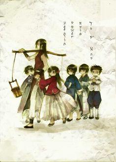 Hetalia - Asia Family - Korea, China, Taiwan, Hong Kong, Japan, Thailand