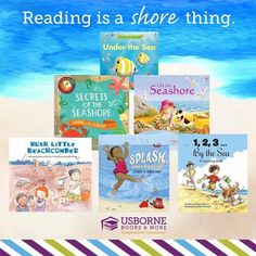 """Reading is a """"shore thing"""" with Usborne Books and More! HappyCamperReaders.com"""