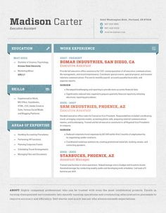 Simple, stand-out resume design