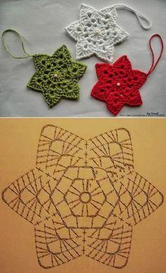 Transcendent Crochet a Solid Granny Square Ideas. Inconceivable Crochet a Solid Granny Square Ideas. Crochet Snowflake Pattern, Crochet Stars, Crochet Motifs, Christmas Crochet Patterns, Holiday Crochet, Crochet Snowflakes, Crochet Diagram, Crochet Flowers, Crochet Doilies