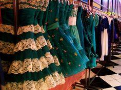 Blue/green dresses