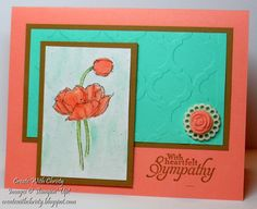 Sympathy Card by StampinChristy - Cards and Paper Crafts at Splitcoaststampers