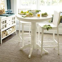 Ronan Bar Table Set - Antique White