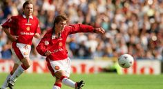 Every #David #Beckham #ManchesterUnited #FreeKick. #DavidBeckham #ManU #soccerplayers #soccerkicks