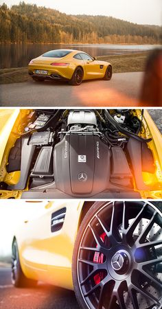 Driving performance for sports car enthusiasts: The Mercedes-Benz GT S in AMG solarbeam. Photos by Johannes Gloeggler #MBsocialcar [Mercedes-AMG GT S | combined fuel consumption 9.6-9.4 l/100km | combined CO2 emission 224-219 g/km | http://mb4.me/efficiency_statement]