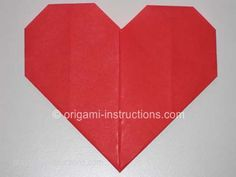 Completed Origami Heart