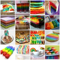 Rainbow food. For my dream Wizard of Oz party.