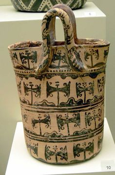"Clay ""bag"" with Labrys symbols from Psira, Crete (1450 - 1200 BCE)"