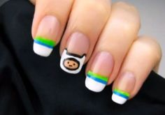 You can save the day with Adventure Time on your nails! cutepolish designed a nail art for everyone's favorite cartoon show, Adventure Time. The nail art may look very difficult, but it's actually very easy to follow and do.