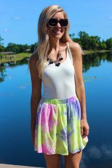 Pastel Tie Dye Skirt #sophieandtrey #4thandocean