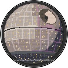 Pretty Death Star  Cross Stitch Pattern  by SpaceNonasStitchery - Gotta start thinking about Christmas.