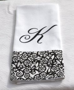 Monogrammed Embroidered Kitchen Towel  Dish by BUniqueDeZigns, $10.00