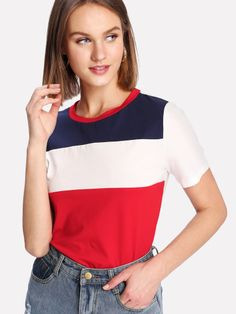 To find out about the Cut And Sew Tee at SHEIN, part of our latest T-Shirts ready to shop online today! Belted Shirt Dress, Tee Dress, Shein Dress, Latest T Shirt, Pullover, Womens Fashion, Fashion Art, Fashion Online, Fashion Trends