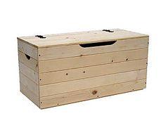 Baúl de madera maciza, natural – pequeño