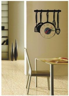 fun clock for your kitchen!